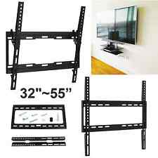 "TV WALL MOUNT TILT FIXED BRACKET 32"" - 55"" PLASMA LED LCD VESA 400x400 SLIM FLAT"