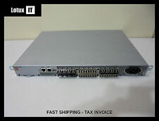 NetApp Brocade 300 24 Port Active SAN Switch 16x 8G SFP+ 8x 4G SFP Trunking Fab