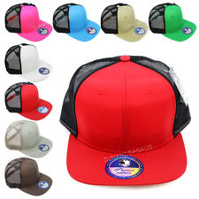 Trucker Hat Baseball Cap Mesh Caps Blank Plain Color Meshback Snapback Hats New