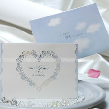 Personalized Laser Cut Love Heart Wedding Invitations Cards And Envelopes, Seals