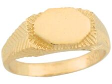 10k / 14k Yellow Gold Fancy Contemporary Signet Baby Ring