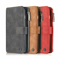 Leather Zipper Wallet Case Cover  For iPhone 6S /6S Plus Galaxy S7 /S7  Edge