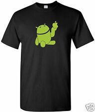Holding Apple T-Shirt  Computer Geek Cell Phone  Black Apple logo Free Shipping