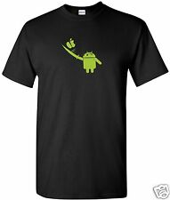 Ninja  Android Cutt T-Shirt  Computer Geek Cell Phone S-3XL Black Free Shipping
