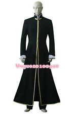 D.Gray-Man General Cross Marian Long jacket Black Cosplay Costume free shipping