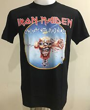 T-Shirt Heavy Rock Band Music Iron Maiden Can I Play with Madness Screen New