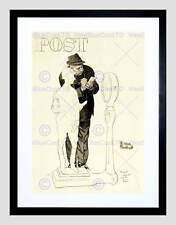 SPORT POST JOCKEY BEING WEIGHED HORSE RACING DRAWING FRAMED ART PRINT B12X11277
