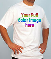 Custom Printed T-Shirts - FULL COLOR Imprint your logo / picture / message etc.