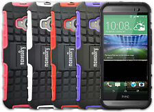 Solid Hard Rugged Shell w/ Kickstand Case Cover for HTC One M9
