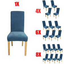 1/4/6/8pcs Comfy Dining Room Stretch Chair Covers Protector Removable Slipcover