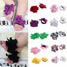 Baby Toddler Infant Girls Barefoot cotton Flower Sock Sandals Toe Princess Shoes