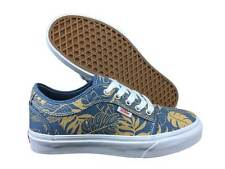 VANS. Chukka Low. Blue Twill / White. Leaves. Mens US Size: 12, 11, 10.5, 9.5.