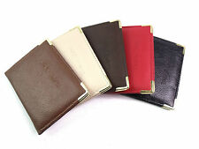 NEW REAL LEATHER TRAVEL/ BUS PASS/ ID/OYSTER CREDIT CARD HOLDER VARIOUS COLOURS