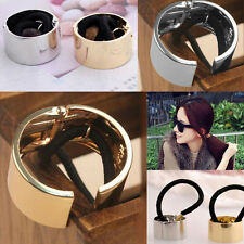 Korean Fashion Metal Hair Elastic Accessories Cuff Wrap Pony Tail Hairband HOT