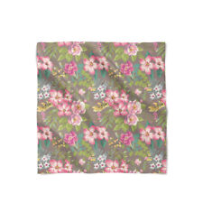Tropical Vintage Florals Satin Style Scarf - Bandana in 3 sizes