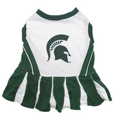 Michigan State Spartan Dog Cheer Leading Outfit Officially Licensed NCAA Product
