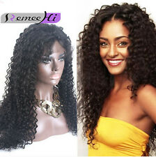 """Energetic Curly 100% Indian Remy Human Hair Lace Front /Full Lace Wig 12""""-22"""""""