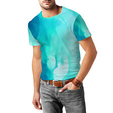 Blue Abstract Watercolor Mens Sport Mesh T-Shirt XS-3XL All-Over-Print Sublimati