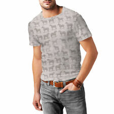 Vintage Horses Pattern on Grey Mens Sport Mesh T-Shirt XS-3XL All-Over-Print Sub
