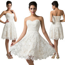 New Lace Bridesmaid Dress Formal Evening Party Cocktail Short Prom Ball Gown