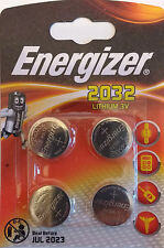 4 x Energizer CR2032 BR2032, 3V SB-T15 Lithium Coin Cell Battery