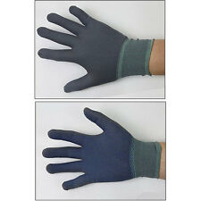 3 Pairs Dot Palm work gloves Coated Nylon Nitrile Rubber Gray gloves from korea