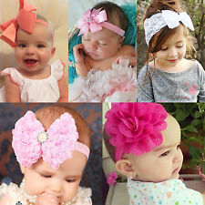 Infant Baby Girls Flower Bow Knot Head Band Hair Accessories Headwrap Headwear
