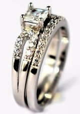 925 Sterling Silver Womens Wedding Ring Engagement Band AAA CZ Stone Bridal Set