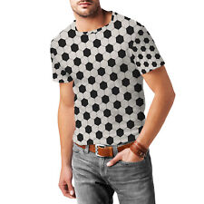 Soccer Ball Mens Cotton Blend T-Shirt XS-3XL All-Over-Print