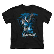 Justice League Of America Men's  Batman Blue & Gray T-shirt Black Rockabilia