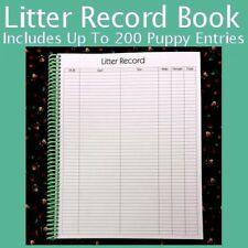 Litter Record Books & SOLD SEPARATELY Whelping Puppy ID Collar Litter Bands 3/8""
