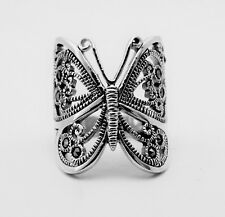 New Marcasite BUTTERFLY Sterling Silver .925 Ring 8.9 grams ~Gorgeous!