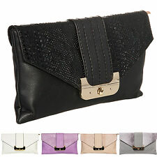 Ladies Snakeskin Clutch Bag Clasp Evening Bag Party Faux Leather Handbag K90366