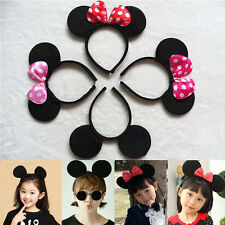 Minnie Mouse Ears Bows Headband Mickey Ear Hair Womens Girls Fancy Party Dress