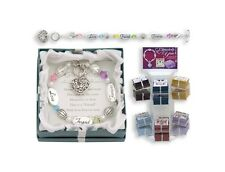 Expressively Yours Bracelets - Crystal & Silver - w/ Verse Card & Gift Box - OEM