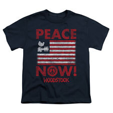 Woodstock Men's  Peace Now T-shirt Blue Rockabilia