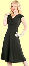 Stop Staring! - Black Flocked Polka Dot Swing Dress.  New With Several Sizes.