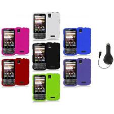 Color Hard Snap-On Rubberized Case Cover+RET Charger for Motorola Xprt MB612