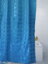 COBALT BLUE SPHERE POLYESTER SHOWER CURTAIN 180 X 180CM OR 180 X 200CM