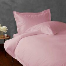 1200 Thread Count Egyptian Cotton 3 PC's Duvet Set Pink Solid