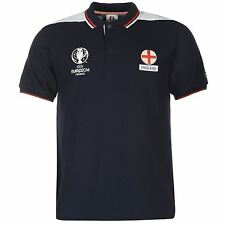 UEFA EURO 2016 England Polo Shirt Mens Navy Football Soccer Collared T-Shirt