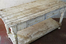 1.43 VINTAGE ANTIQUE PINE FRENCH PAINTED CONSOLE CHEST SIDEBOARD HALL TABLE 1900