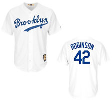 Brooklyn Dodgers Jackie Robinson #42 Cooperstown Men's White Baseball Jersey