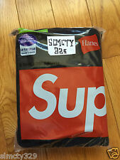 Supreme Box Logo Hanes T Shirt Pack of 3 Tagless Tee PCL CDG Mini Red Black S-XL