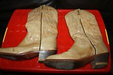 NUNN BUSH WESTERN BOOTS MEN'S light BROWN  LEATHER SIZE 10.5 Leather Soled Spain