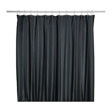 Ikea Shower Curtain Saltgrund Densely-woven fabric  Black Gray White Two sided