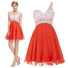 BEAD One-Shoulder Short Chiffon Dress Homecoming Evening Prom Beach Party Formal