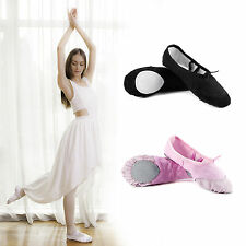 Gymnastic Ballet Canvas Dance Shoes Soft Full Split Sole for Kids Adult