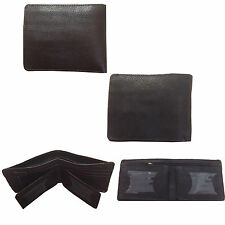 MENS QUALITY 100% REAL COW LEATHER WALLET CREDIT CARD HOLDER DESIGNER PURSE NEW