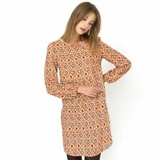 La Redoute Womens Long-Sleeved Printed Shift Dress